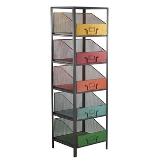 Multicolor Metal Display 5-bin Cabinet Rack