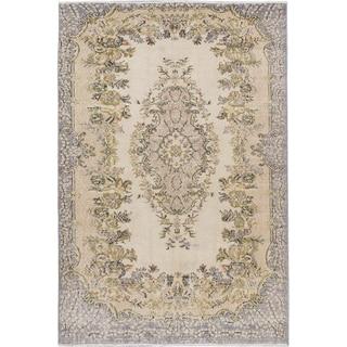 eCarpetGallery Hand-knotted Anatolian Sunwash Blue Wool Rug (5'10x8'6)