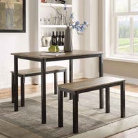 The Gray Barn Kaess Dining Table with 2 Dining Benches