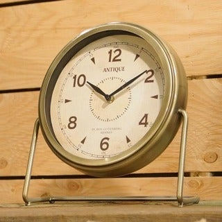 Metal and Glass Table Clock