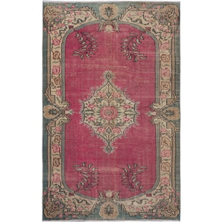 ecarpetgallery Hand-Knotted Anatolian Sunwash Pink Wool Rug (5'9 x 9'0)