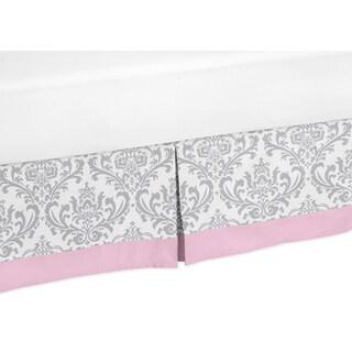 Sweet Jojo Designs Pink and Grey Elizabeth Queen-size Bedskirt