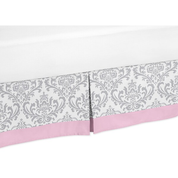 shop sweet jojo designs pink and grey elizabeth queen size bedskirt free shipping on orders. Black Bedroom Furniture Sets. Home Design Ideas