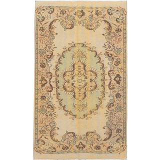 eCarpetGallery Yellow Wool Hand-knotted Color-transition Rug (5'7 x 9'3)