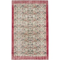 eCarpetGallery Hand-knotted Keisari Vintage Blue with Red Wool Rug (6'0 x 9'6)