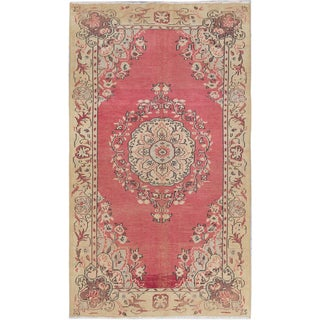 eCarpetGallery Oriental Melis Vintage Pink Wool and Cotton Hand-knotted Area Rug (5'4 x 9'2)