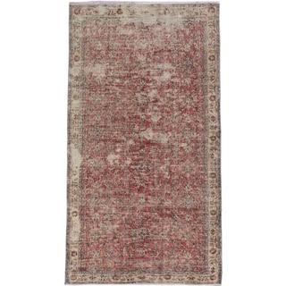 eCarpetGallery Keisari Brown Wool Hand-knotted Rug (4'0 x 7'1)