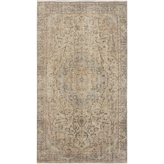 eCarpetGallery Hand-knotted Vintage White/ Blue Keisari Wool Rug (4'11 x 9'0)