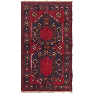 eCarpetGallery Kazak Blue and Red Wool Hand-knotted Rug (3'6 x 6'0)