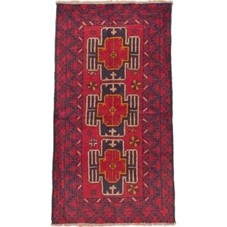 eCarpetGallery Hand-knotted Kazak Red Wool Rug (3'6 x 6'3)