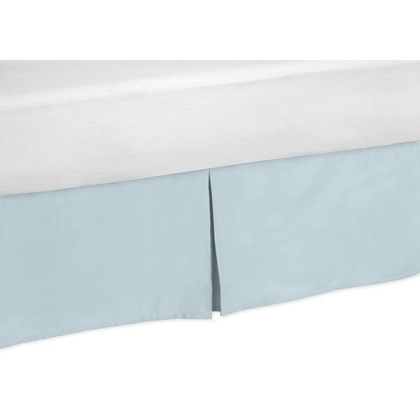 Sweet Jojo Designs Hayden Solid Blue Queen-size Bedskirt