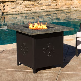 Genial Tiburon Outdoor 30 Inch Square Propane Fire Pit With Lava Rocks