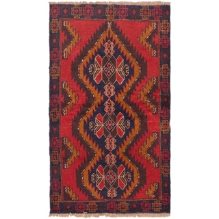 eCarpetGallery Hand-knotted Kazak Red/ Brown Wool Rug (3'6 x 6'0)