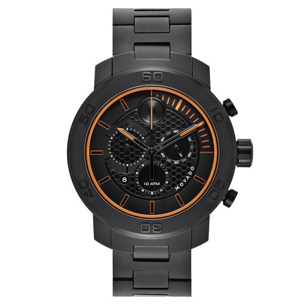 Movado Men's Black PVD-coated Titanium and Stainless Steel Swiss Quartz Watch -  3600190