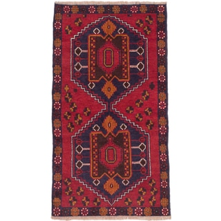 eCarpetGallery Red Wool Hand-knotted Kazak Area Rug (3'5 x 6'4)