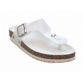 Blue Women's Fatia Cushioned Sandals Size 7 in White (As Is Item)