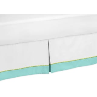 Sweet Jojo Designs Turquoise and Lime Hooty Queen-size Bedskirt