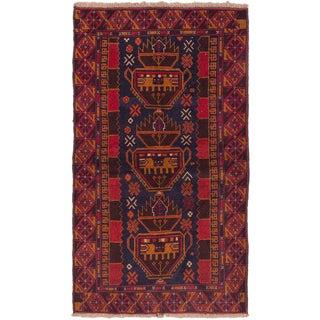 eCarpetGallery Hand-knotted Kazak Blue/ Red Wool Rug (3'6 x 6'0)