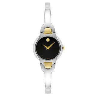 Movado Women's 0606948 Kara Goldtone/Silvertone Stainless Steel Swiss Quartz Watch