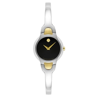 Movado Kara Goldtone/Silvertone Stainless Steel Swiss Quartz Women's Watch