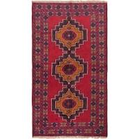 eCarpetGallery Kazak Red/Brown Wool Hand-knotted Rug (3'6 x 6'1)