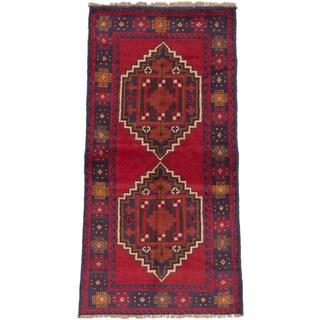 eCarpetGallery Hand-knotted Kazak Red Wool Rug (3'5x6'4)