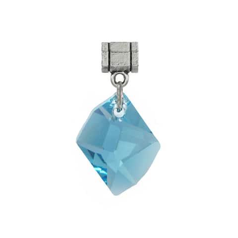 Handmade Jewelry by Dawn Aquamarine Blue Crystal Cosmic Pendant (USA)