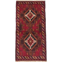 eCarpetGallery Hand-knotted Kazak Brown and Red Wool Rug (3'3 x 6'4)