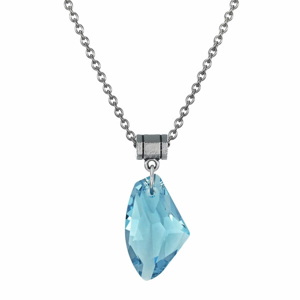 Shop handmade jewelry by dawn large aquamarine blue crystal galactic handmade jewelry by dawn large aquamarine blue crystal galactic stainless steel chain necklace usa aloadofball Images