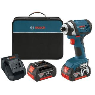 Bosch 18-Volt 1/4 in. Hex Compact Tough Impact Driver with (2) FatPack Battery (4.0Ah)