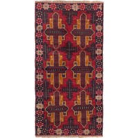 eCarpetGallery Bahor Red Wool Hand-knotted Rug (3'2 x 6'3)