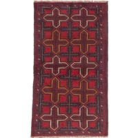 eCarpetGallery Bahor Red Wool Hand-knotted Rug (3'6 x 6'2)