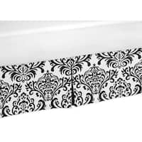 Sweet Jojo Designs Black and White Isabella Queen-size Bedskirt