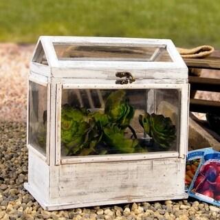 White Wood/Metal/Plastic Planter Box