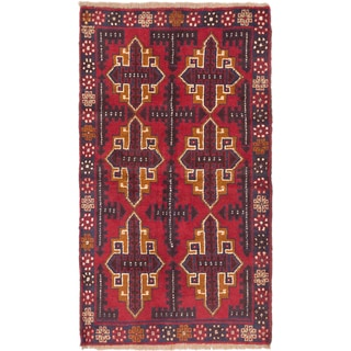 eCarpetGallery Bahor Red Hand-knotted Wool Rug (3'7 x 6'2)