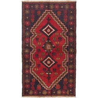 eCarpetGallery Kazak Blue/Red Hand-knotted Wool Rug (3'8 x 6'4)