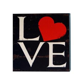 'Love' Wood Block Art