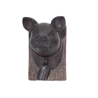 Resin and Metal Pig Wall Plaque