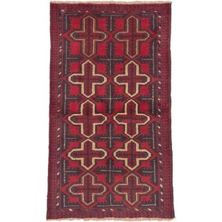 eCarpetGallery Bahor Red Wool Hand-knotted Oriental Area Rug (3'6 x 6'3)
