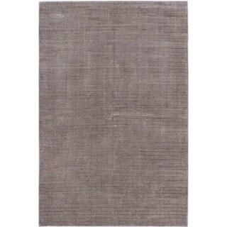 ecarpetgallery Hand-Knotted Shimmer Grey Wool Art Silk Rug (6'0 x 9'0)