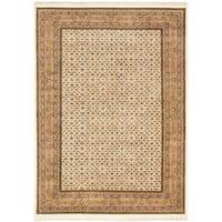 eCarpetGallery Bijar Blue, Brown Wool Hand-Knotted Rug (8'1 x 11'4)