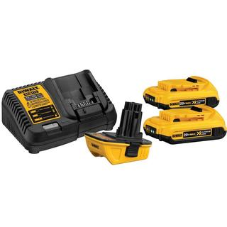 DEWALT 20-Volt MAX Battery Adapter Kit for 18-Volt Tools