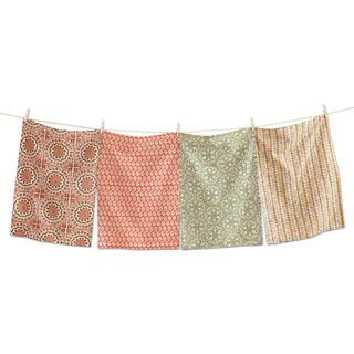 TAG Thanksgiving Sundari Block Dishtowel (Set of 4)