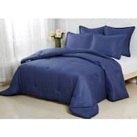 Affluence Navy 3-piece Comforter Set