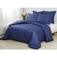 Affluence Navy 3-piece Comforter Set