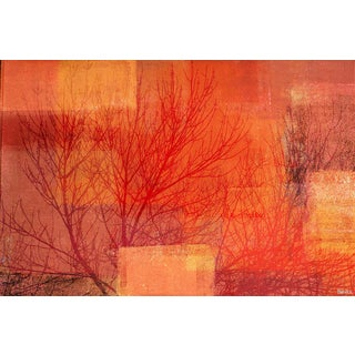 Parvez Taj - 'Red Branches' Painting Print on Wrapped Canvas