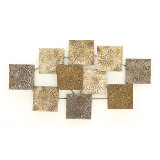 Urban Designs Textured Contemporary Metal 43-inch Wide Wall Decor