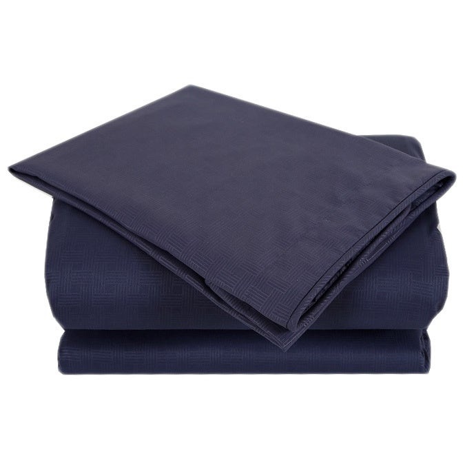 Affluence Navy 3-piece Duvet Cover Set (King), Blue (Micr...