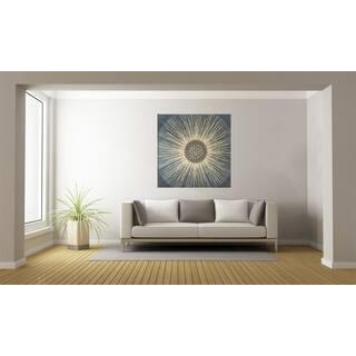 Urban Designs 'Blues Sunburst' Multicolored Metal/ Canvas Wall Art|https://ak1.ostkcdn.com/images/products/12916757/P19671503.jpg?impolicy=medium