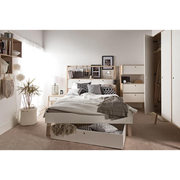 Shop Voelkel Spot Collection White Wood Drawer For Queen Bed Free Unique Bedroom Furniture Spot